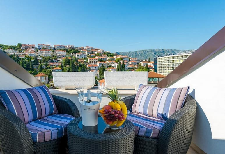 Apartments Arla Exclusive, Dubrovnik, Deluxe apartman, 1 spavaća soba, balkon, pogled na more, Balkon