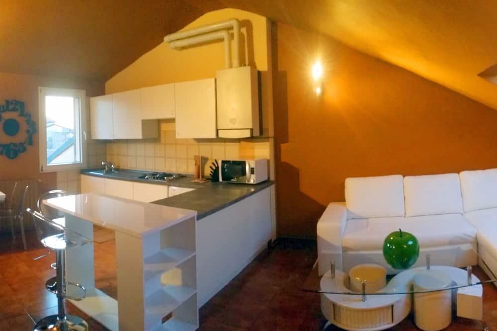 アパートメント 2 ベッドルーム (Via Antonio Scarpa 16) - リビング エリア