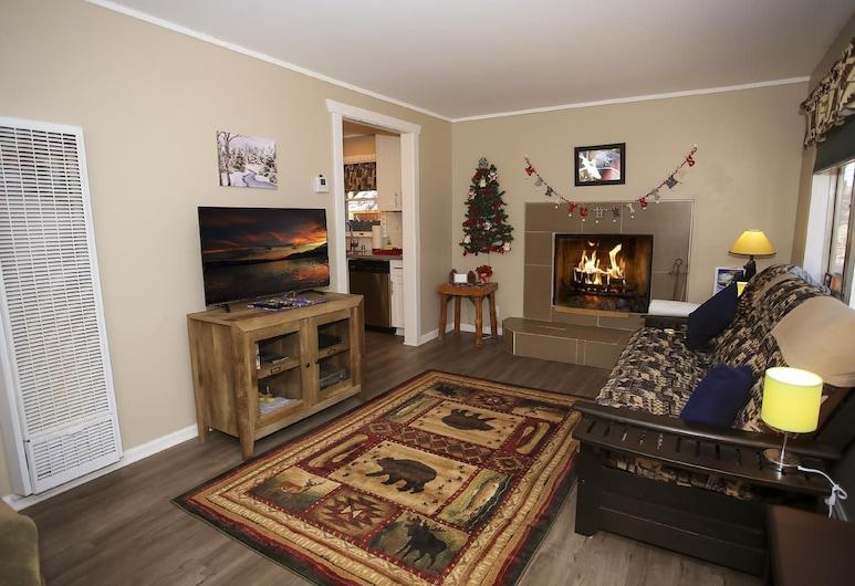 小熊度假屋, 大熊湖, 單棟房屋, 多張床, 非吸煙房, 客廳