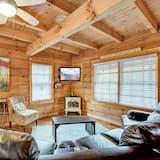 Chatka, viacero postelí, vírivka, výhľad na hory - Obývačka