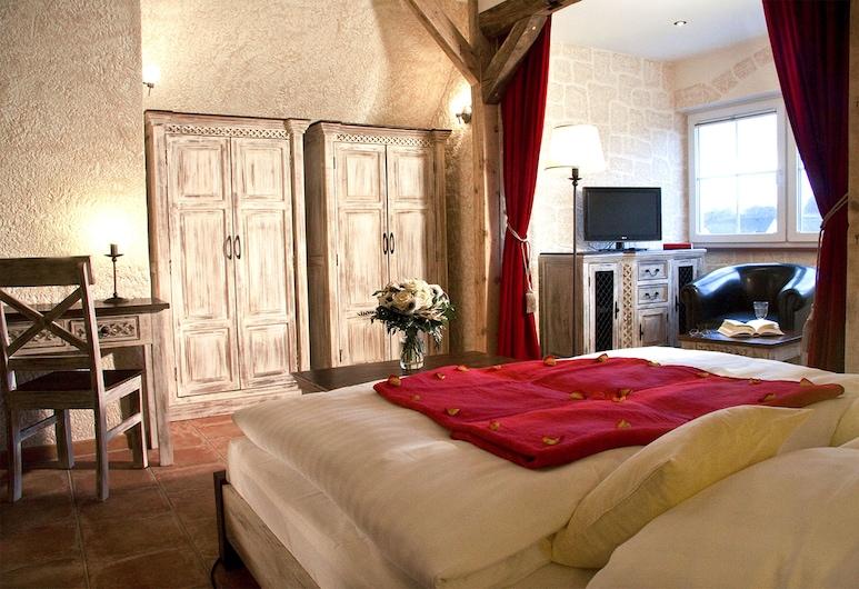 Binzhotel Landhaus Waechter, Bincas, Dvivietis kambarys su patogumais, 1 labai didelė dvigulė lova, Svečių kambarys