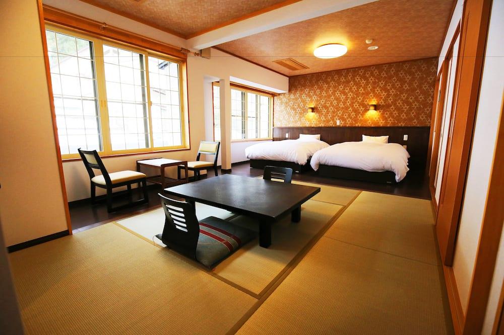 Familiekamer, niet-roken, gemeenschappelijke badkamer (Japanese Western, PrivateToilet,For2) - Kamer