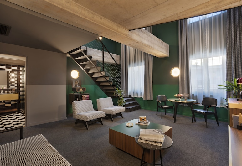 Stories Hotel, Budapest, Rom – executive, 1 soverom, Oppholdsområde