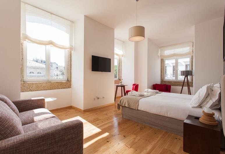 Feels Like Home Rossio Prime Suites, Лиссабон, Улучшенный двухместный номер с 2 односпальными кроватями (Private External Bathroom ), Номер