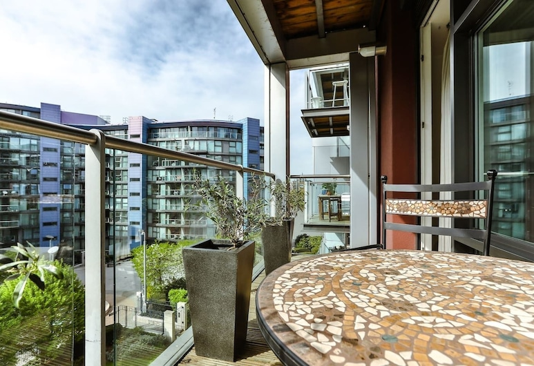 Bright & Modern Apartment - Thames View/5 Guests, London, Balcony