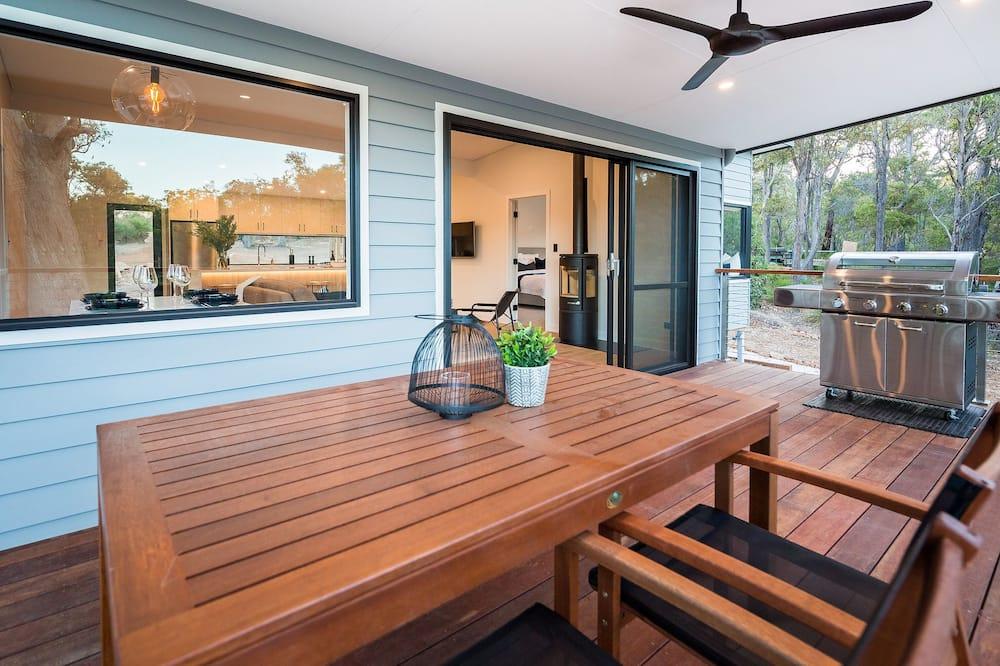Luxe villa, 1 slaapkamer, en-suite badkamer, uitzicht op tuin - Balkon