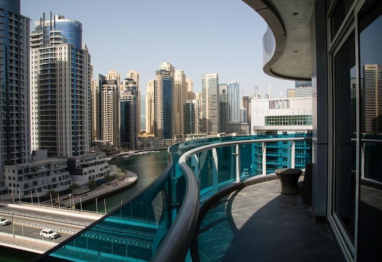 Higuests Vacation Homes - Orra, Dubajus, Prabangaus stiliaus apartamentai, 2 miegamieji, vaizdas į valčių prieplauką, Balkonas