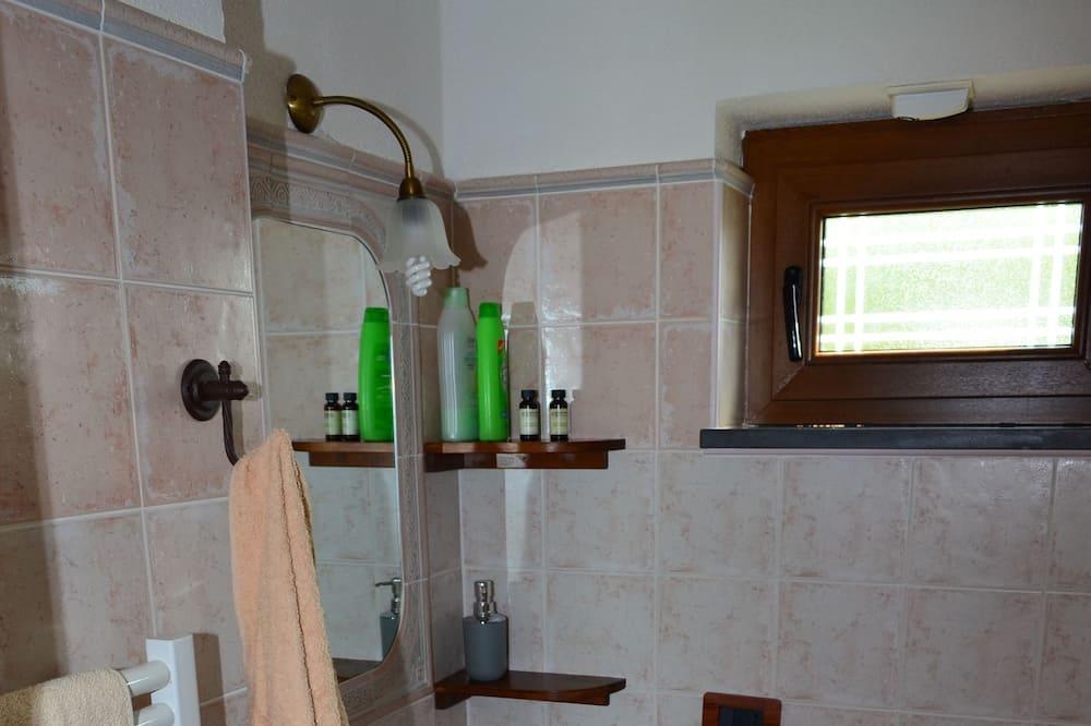 Studio Familial, terrasse - Salle de bain