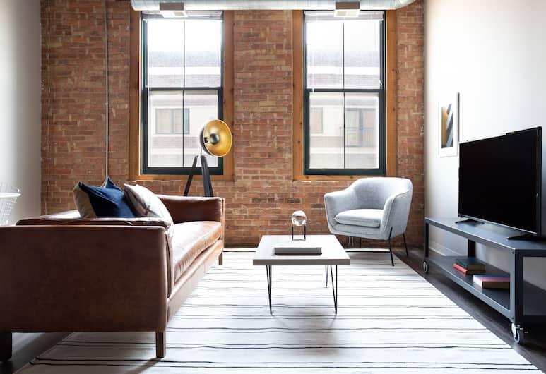 松德爾明亮南方圓環套房酒店, 芝加哥, 舒適公寓, 1 間臥室, 客廳