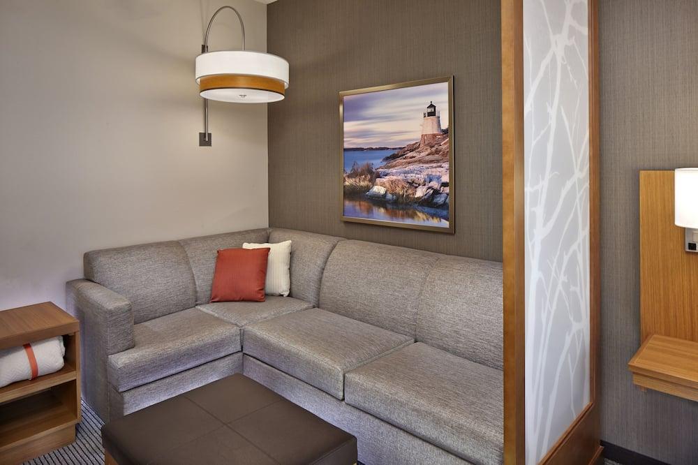 Kamer, 1 kingsize bed met slaapbank, Toegankelijk voor mindervaliden, Bad - Woonruimte