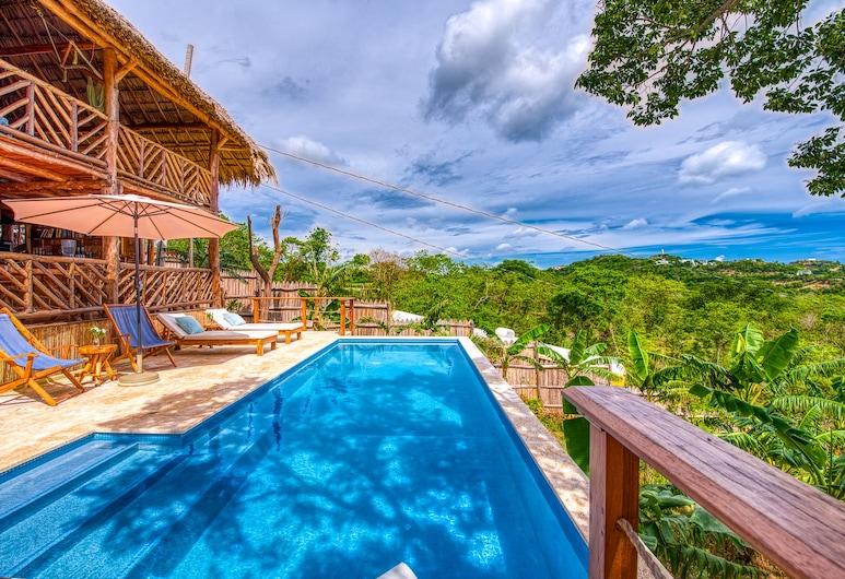 Eden on the Chocolata, San Juan del Sur, Comfort Bungalow, 2 Bedrooms, Ocean View, Sea Facing, View from room