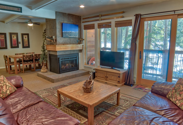 Tannenbaum #105 (Condo with Pool & Hot Tub), Breckenridge, Deluxe Apartment, 2 Bedrooms, Fireplace, Living Area