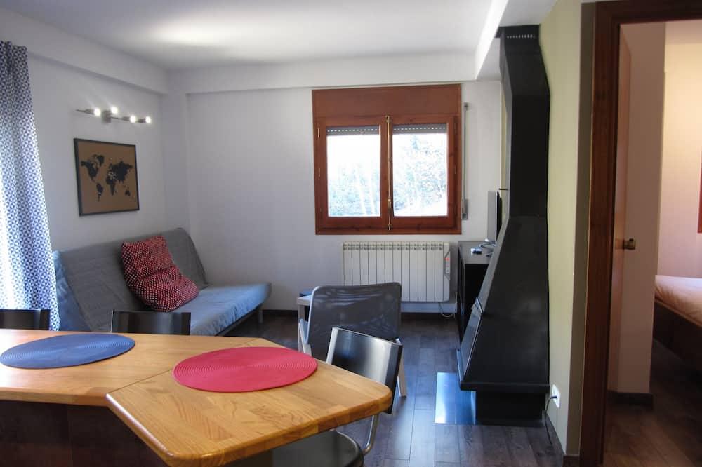 Apartamento, 1 habitación, balcón, vistas a la montaña - Comida en la habitación
