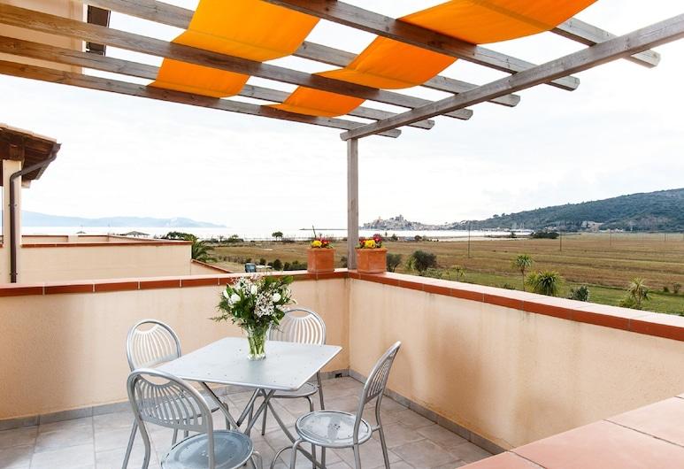 Residence Talamone il Poderino, Orbetello, Apart Daire, 1 Yatak Odası, Deniz Manzaralı, Teras/Veranda