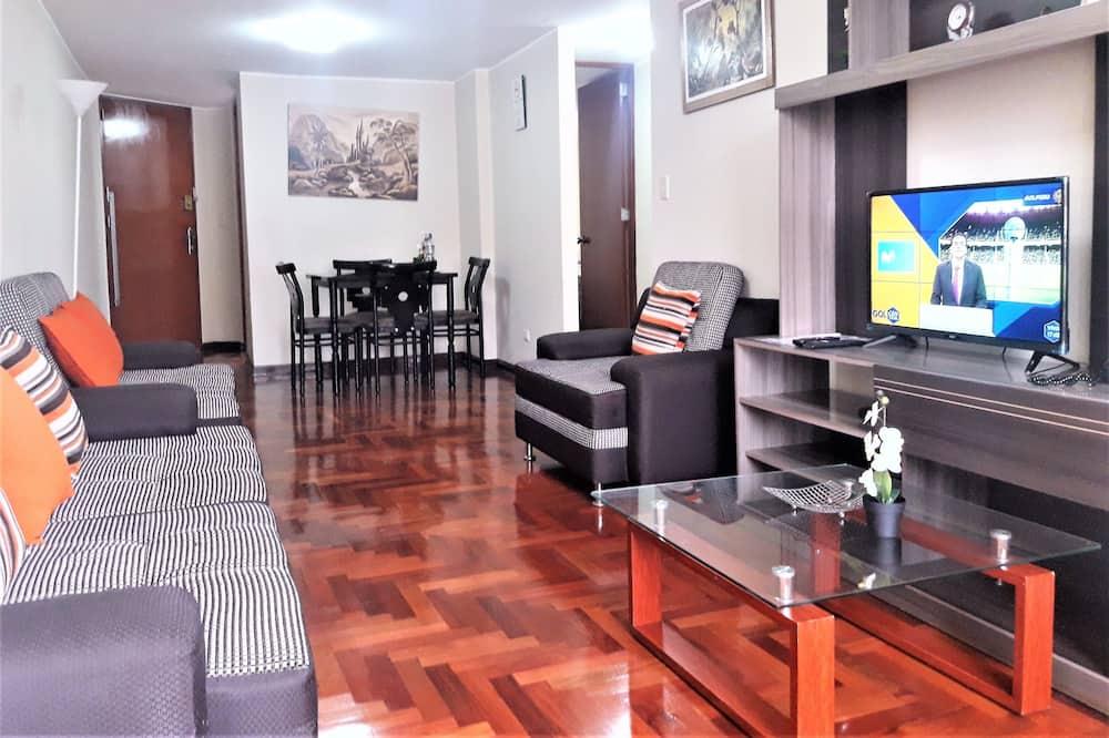 شقة سوبيريور - غرفتا نوم - منطقة المعيشة