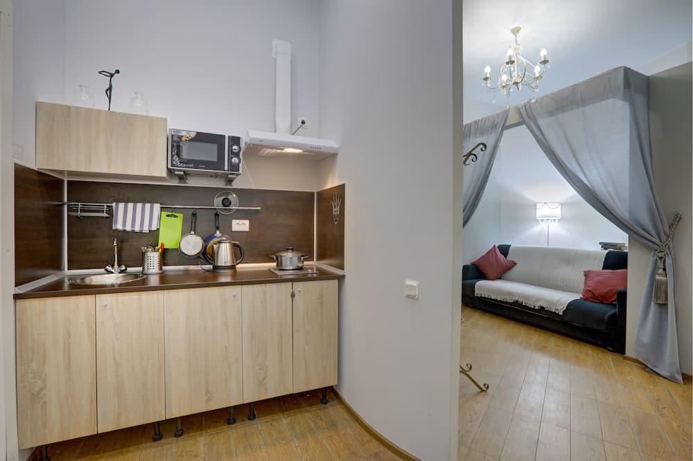 Design-Apartment, 2Schlafzimmer, Kochnische, Erdgeschoss - Wohnzimmer