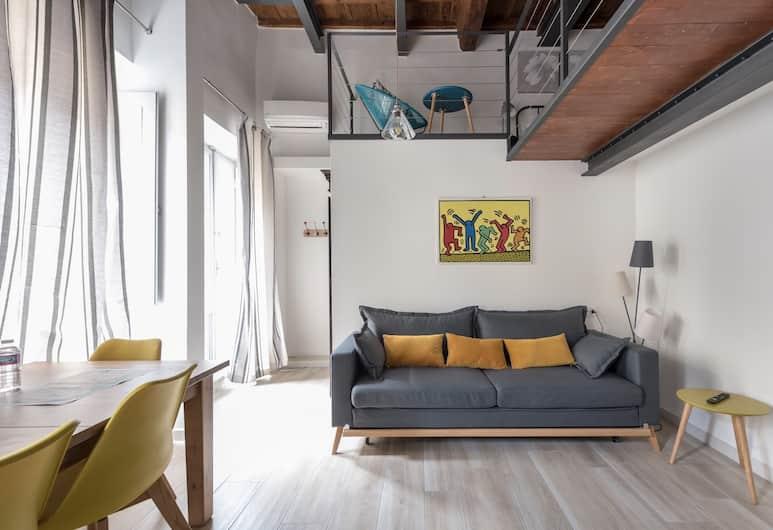 Dimora Cavalieri, Florencie, Pokoj Deluxe s dvojlůžkem, Obývací pokoj