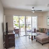 公寓, 2 間臥室, 露台, 泳池景 - 客廳