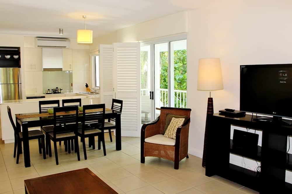 Apartment, 3Schlafzimmer, Balkon, Gartenblick - Wohnbereich