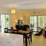 Apartment, 3Schlafzimmer, Balkon, Gartenblick - Essbereich im Zimmer