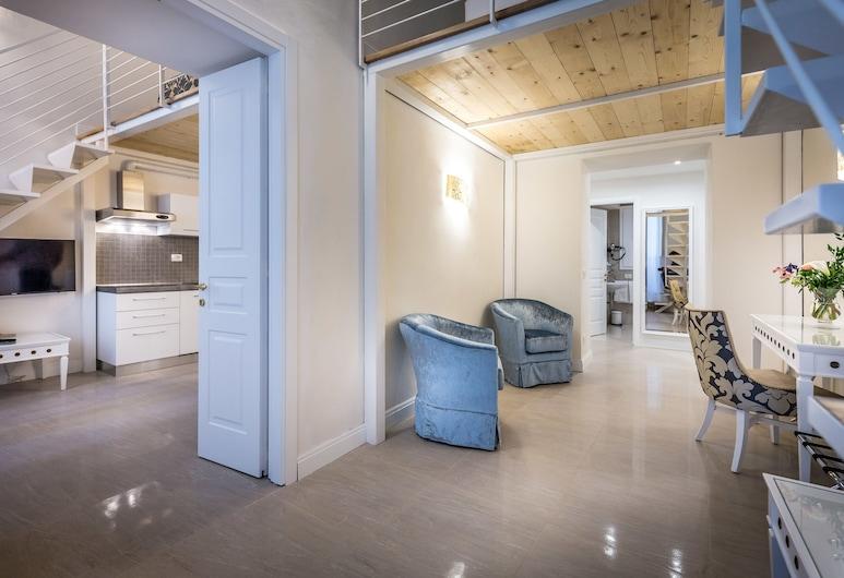 Residenza Alessandra, Florence, Suite, 2 chambres, cuisine (Alessandra ), Coin séjour