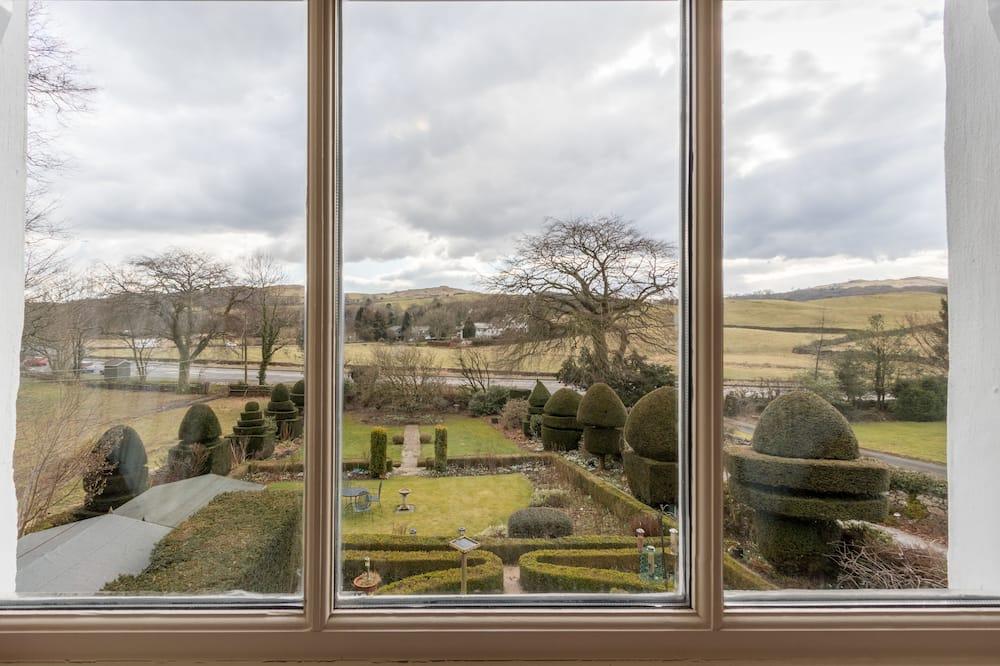 Comfort-Zweibettzimmer, 2Einzelbetten, Gartenblick - Ausblick vom Zimmer