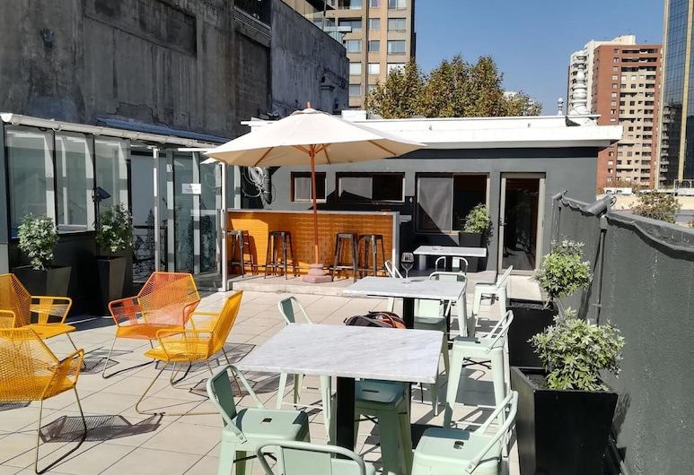 Hostel Boutique Merced 88, Santiago, Terasa