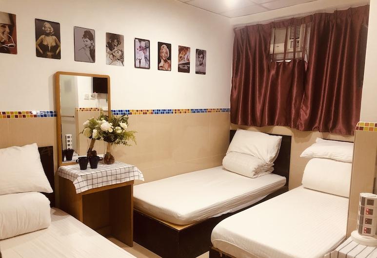 Hoi To Hostel, Hong Kong, Herbergi fyrir þrjá, Herbergi
