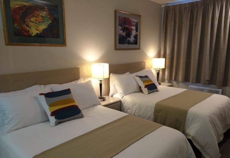 Hotel Le Deville, Montréal, Chambre Confort, 2 lits doubles, salle de bains privée, vue ville, Chambre