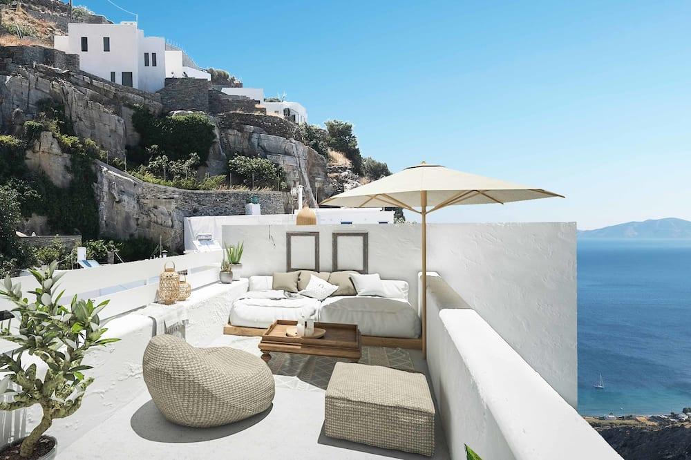 Habitación doble, terraza, vistas al mar - Habitación