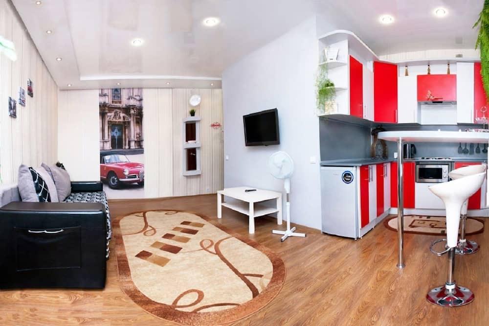 Апартаменты, 1 спальня (Krasnoarmeyskaya, 43) - Зона гостиной