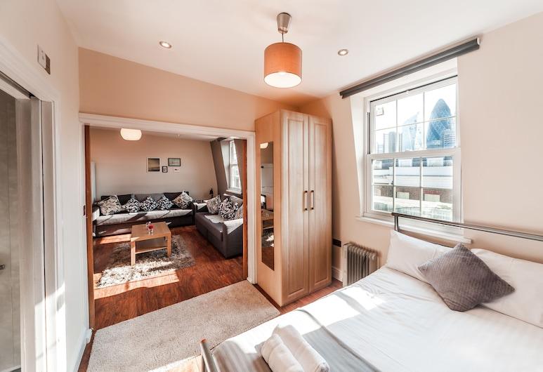 利物浦街紅磚巷城市景觀公寓酒店, 倫敦, 都會樓中樓客房, 1 張標準雙人床, 城市景, 客房