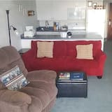 公寓客房, 2 間臥室, 壁爐, 海景 - 客廳