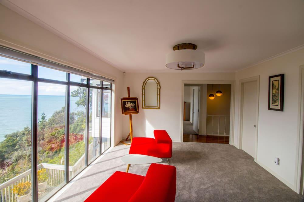 Deluxe vila, 5 spavaćih soba, pogled na ocean - Dnevni boravak