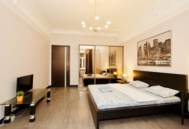 LUXKV Apartment on Zemlyanoy Val 52, Moscow, Apartment, 2 Bedrooms, Living Room