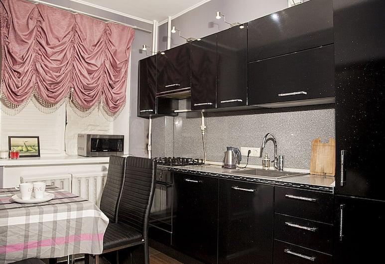 Funny Dolphins Apartments Nikoloyamskaya, Moskwa, Apartament, 1 sypialnia, Prywatna kuchnia
