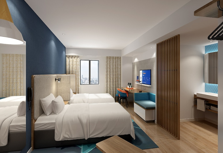 Holiday Inn Express Shaoxing Paojiang, Shaoxing, Chambre Supérieure, 2 lits une place, Chambre