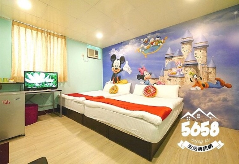 Candy house, Taichung, Quadruple Room, Children's Theme Room