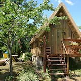 Rekreačná chata typu Comfort, 1 dvojlôžko, súkromná kúpeľňa, s výhľadom do záhrady - Hosťovská izba