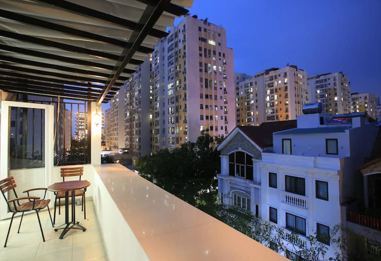 Atlas Hotel & Apartment, Ho Chi Minh-Stad, Deluxe appartement, Balkon