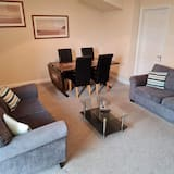 Apartmán, 2 ložnice, výhled do zahrady - Obývací prostor