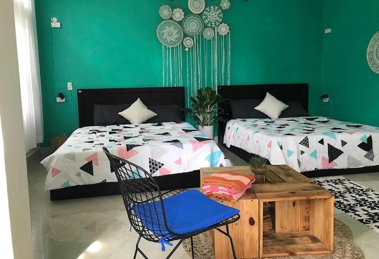 AC Hostel, Da Nang, Familieværelse til 4 personer - 2 dobbeltsenge, Værelse