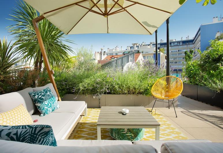 Les Jardins de Mademoiselle Hotel & Spa, Paríž, Terasa