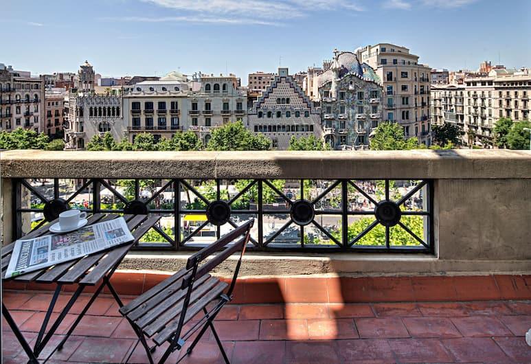 Habitat Apartments Paseo de Gracia, Barcelona, Apartemen, 2 kamar tidur, teras, pemandangan kota, Balkon