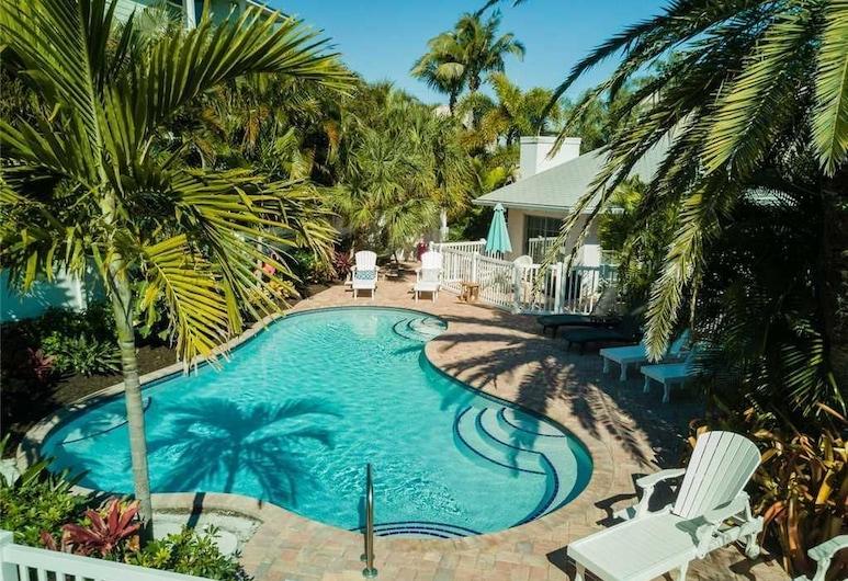 Anna Cabana Bungalow 3, Holmes Beach, Duplex, 1 soverom, kjøkken, Svømmebasseng