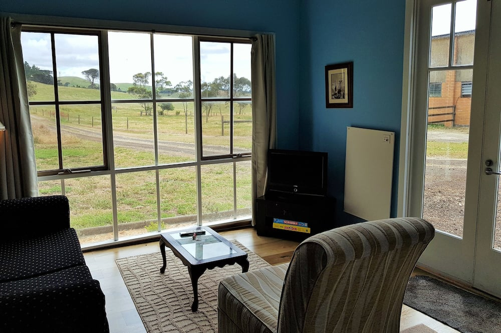 Rodinná rekreačná chata, 2 spálne, výhľad na záhradu - Obývacie priestory