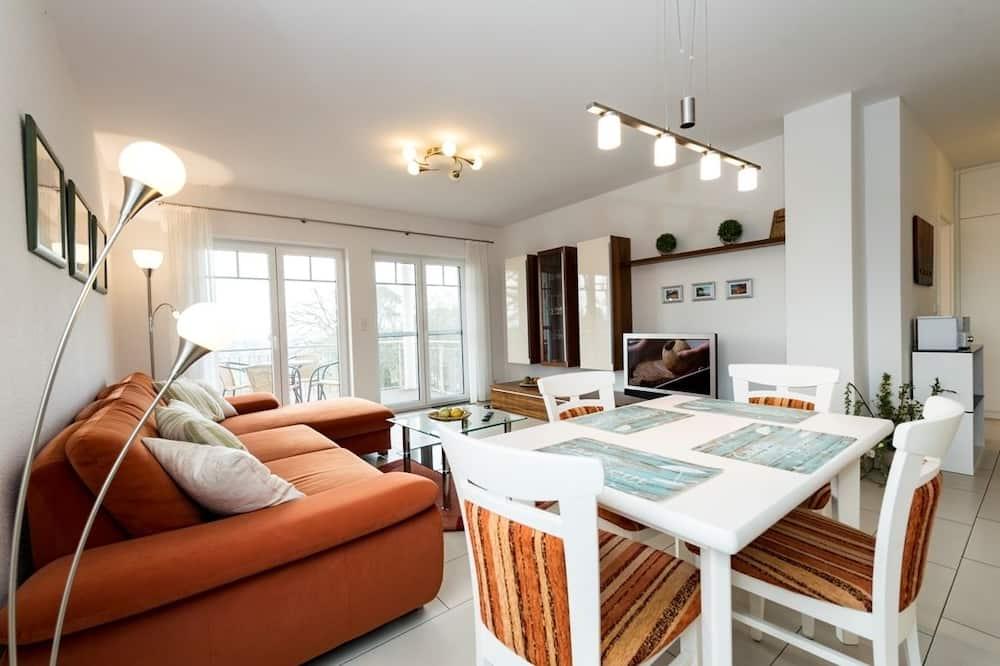 Comfort-Apartment, 2Schlafzimmer, Balkon, Meerblick (#3) - Essbereich im Zimmer