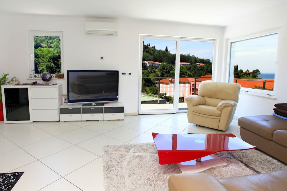 Apartamento, 3 habitaciones, vistas al mar (Penthouse) - Zona de estar