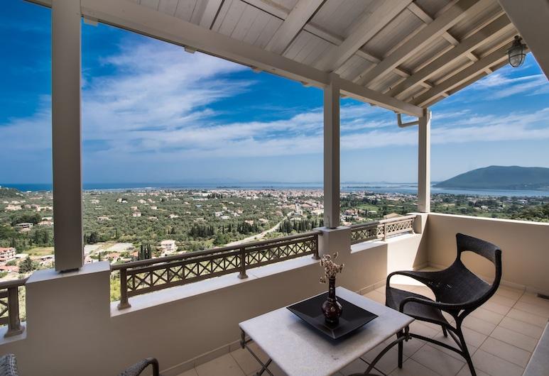 勒納斯別墅酒店, 雷夫卡達, 別墅, 5 間臥室, 私人泳池, 海景, 露台