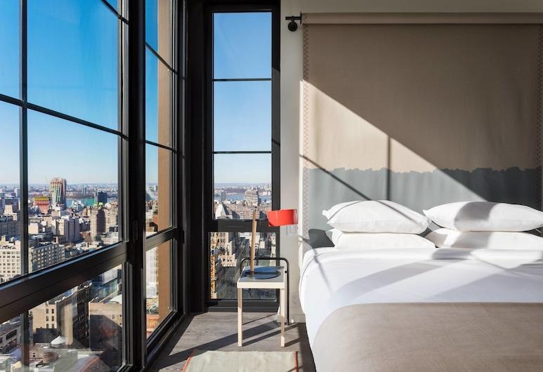Moxy NYC Chelsea, New York, Kamer, 1 kingsize bed, Uitzicht op de stad, Kamer